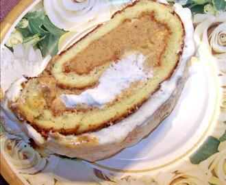 Pumpkin Ice Cream Cake Roll