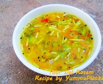 Toor Dal Rasam Recipe , how to make Tuvaram Parippu Rasam