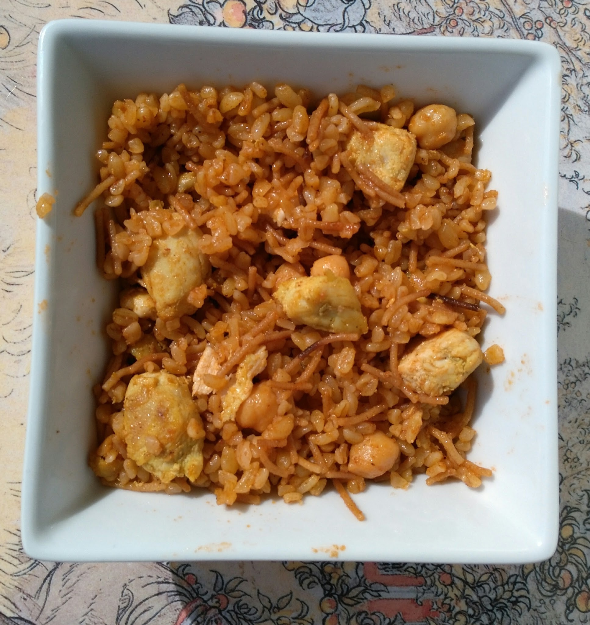 Bulgur pilaf with chickpeas and chicken - recipe