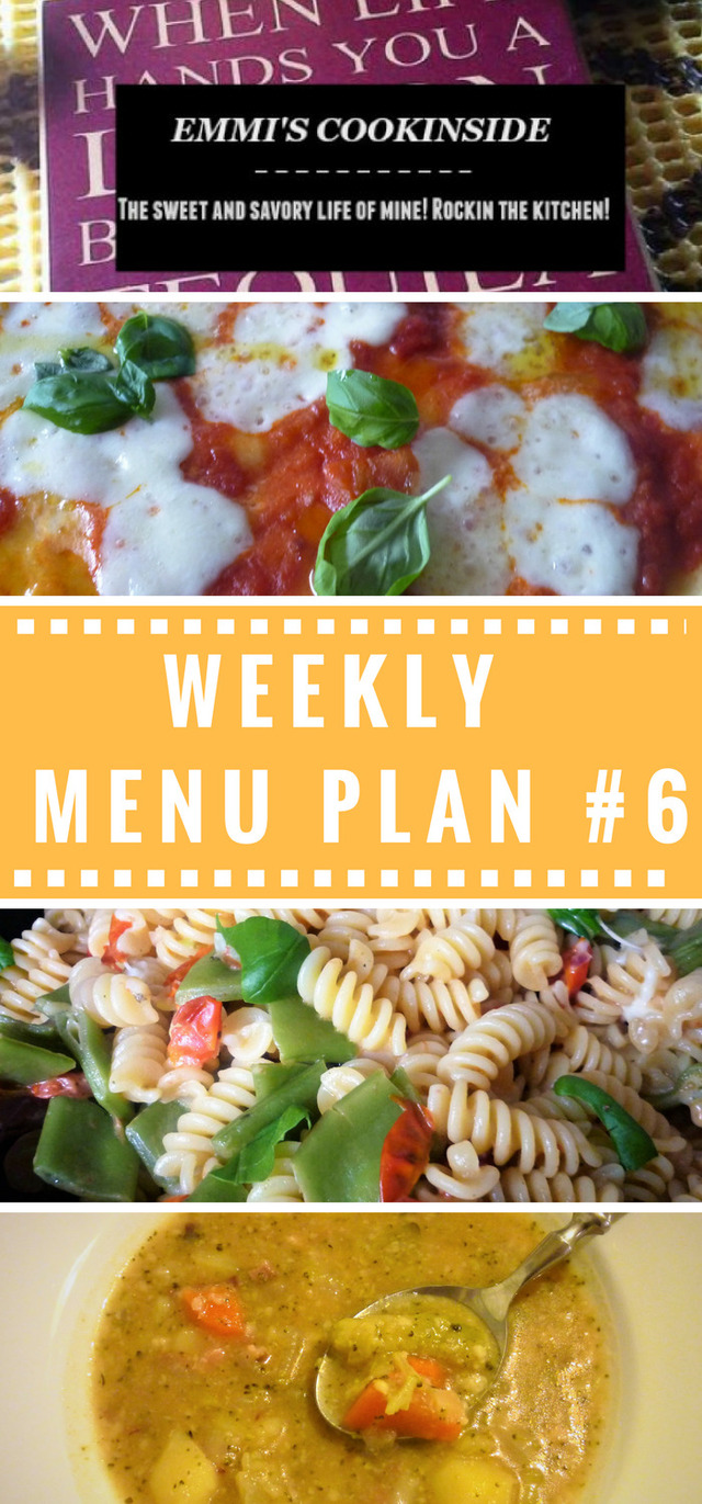 Weekly menu plan #6 – Easy and frugal ideas for the family