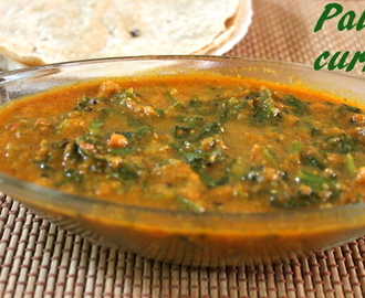 Palak curry recipe – how to make simple palak curry recipe – side dish for rotis/rice