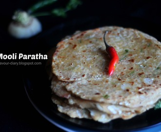 Mooli Paratha | How to make Easy Mooli Paratha Recipe | White Radish Recipe | flavour diary