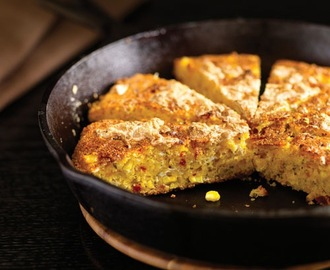 Double Corn Bread with Smoked Mozzarella and Sun-Dried Tomatoes