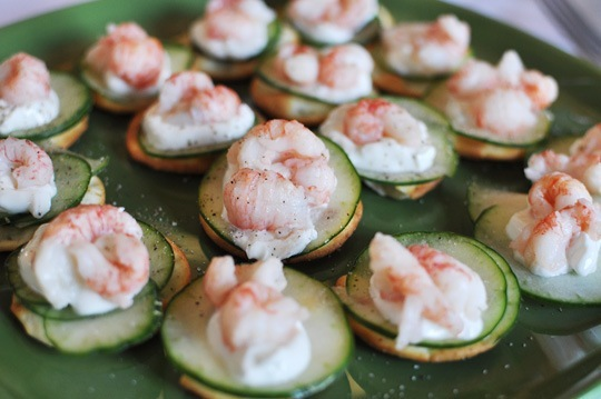 Cool Shrimp and Cucumber Crackers