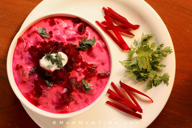 Beetroot Salad with Curd Dressing (Beetroot Raita) Recipe