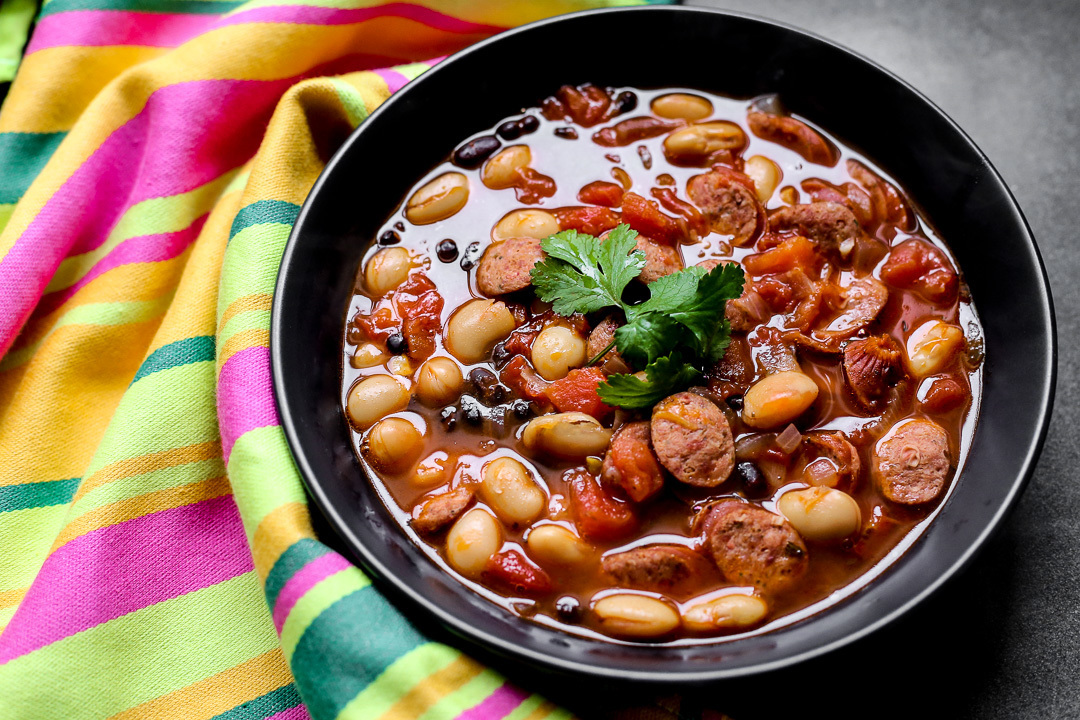 Chorizo, Beans and Tomato Soup