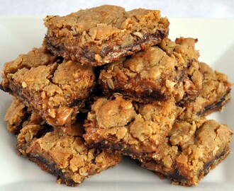 Chocolate Caramel Cookie Bars {Egg-Free}