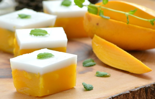 Asian Mango and Coconut 'Jelly'