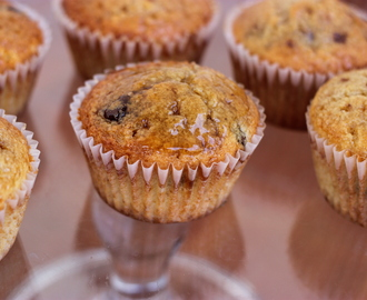 Pancake Muffins with Chocolate Chips