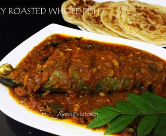 SPICY ROASTED WHOLE FISH RECIPE / RESTAURANT STYLE FISH GRAVY