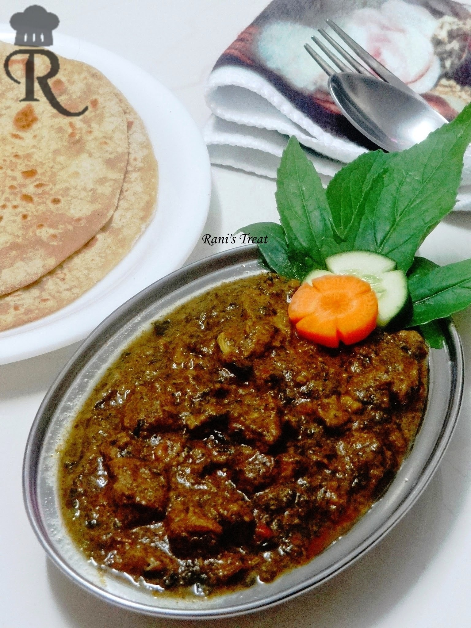 Gongura Mamsam | Gongura Mutton | Goat Meat Curry with Red Sorrel Leaves