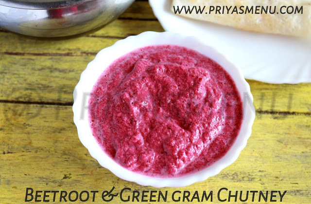 Beetroot & Green Gram Chutney / Chutney Recipe - 95 / #100chutneys