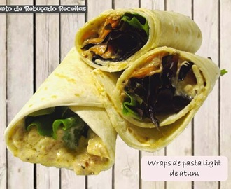 Wraps de pasta light de atum