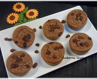 Muffins de banana e chocolate - light