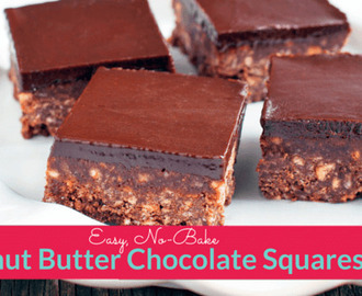 No-Bake Peanut Butter Chocolate Squares