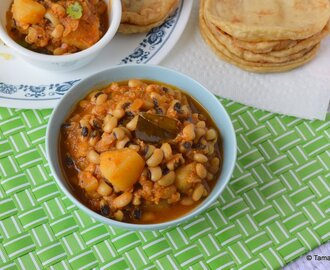Chavlichi Bhaji ~ Black Eyed Beans Curry - Day 3