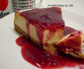 Cheesecake con coulis de frutos rojos (Thermomix)