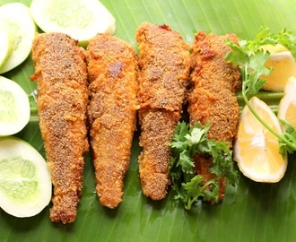 Lady fish fry recipe | kane rava fry recipe