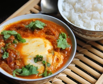 Egg Drop Curry Recipe / Tomato Egg Drop Curry Recipe