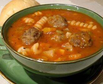 Minestrone Meatball Soup