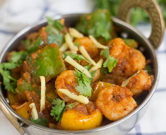 Kadai Prawns Recipe | Indian Prawn Recipes