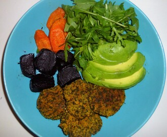 Kale Falafel's with a Roasted Beetroot and Carrot Salad and Tahini Dressing Recipe