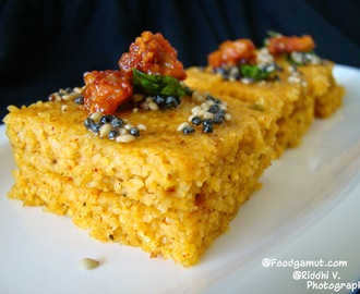 Veggie Twist Oats and Sooji Dhokla