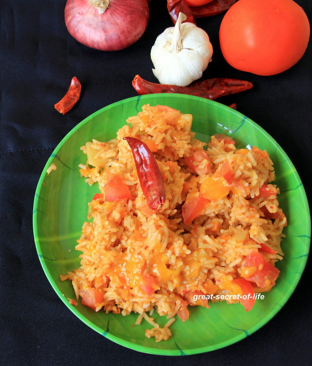 Spanish Rice - simple one pot meal - kids friendly lunch recipe