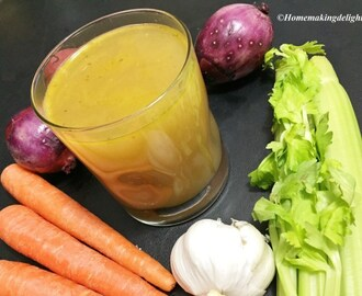 Vegetable Stock Recipe – DiY – Flavored Broth / Base for your food
