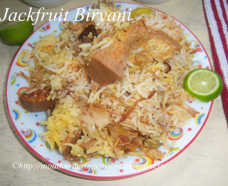 Jackfruit Biryani Recipe -- Panasakaya Biryani -- How to make Jackfruit Biryani Recipe