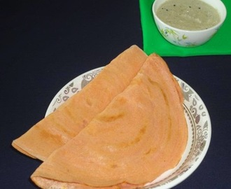 Gajar dose recipe / South Indian style carrot dosa - breakfast item