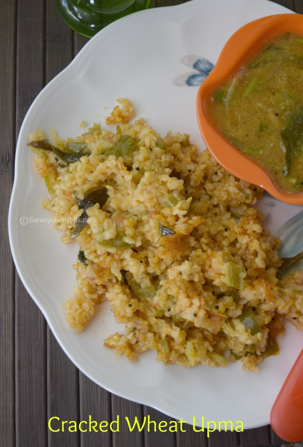 Gothumai Rava upma / Crackled wheat Upma with Bell pepper