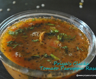 Tomato Paruppu Rasam Recipe, How to make Tomato Dal rasam
