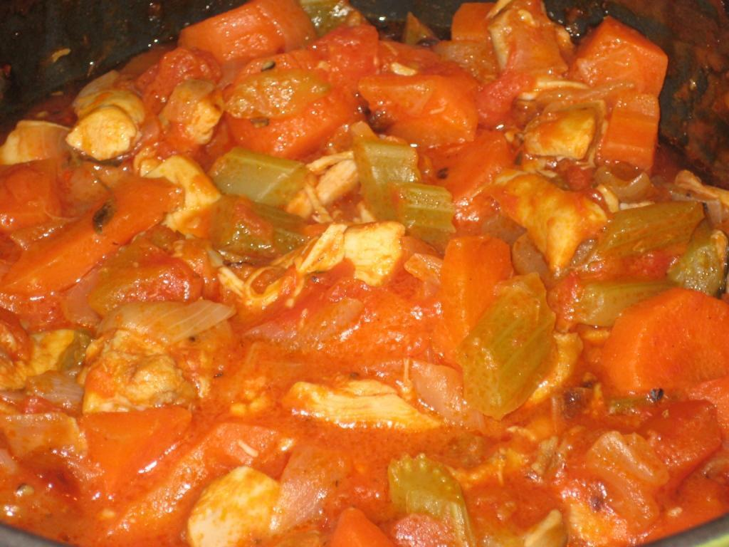 Chicken and White Wine Stew with light and fluffy rice
