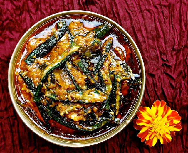 Hyderabadi Bhindi (Curried Okra)