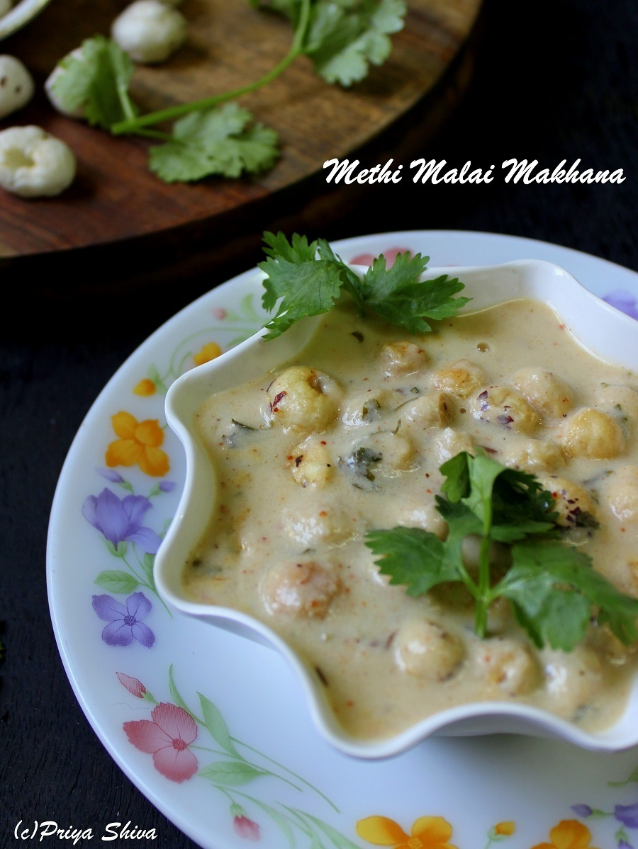 Methi Malai Makhana Curry
