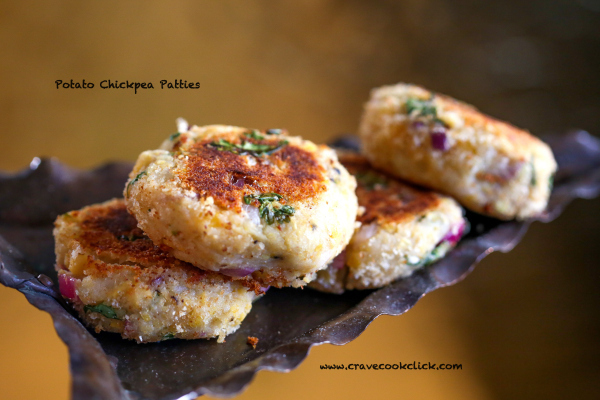 Chickpea potato patties recipe