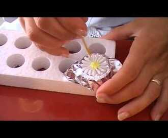 Como hacer Flores de Glase - YouTube