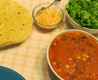 Tortilhas mexicanas com chili