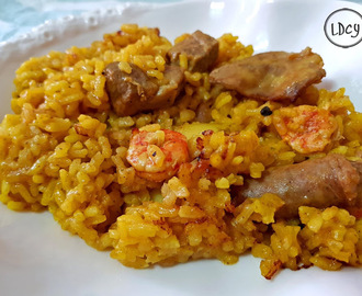 "ARROZ DE MAR Y MONTAÑA (CARNE Y PESCADO)/ ""SEA AND MOUNTAIN"" (MEAT AND FISH) RICE"