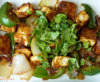 Chilli Paneer / Stir Fried  Cottage Cheese with Bell Pepers