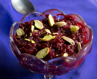 beetroot halwa recipe - using condensed milk