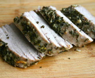 Garlic and Rosemary Crusted Pork Tenderloin