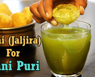 Pani for Pani Puri Recipe | Golgappa Pani Recipe | Jal Jeera Recipe