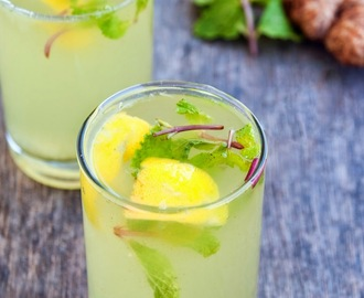Ginger and mint lemon Sharbath