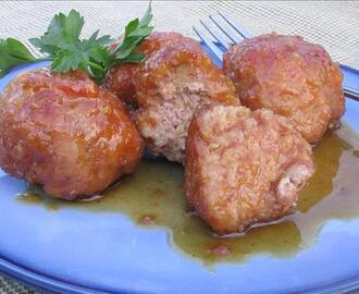 Ham Meatballs in Brown Sugar Sauce