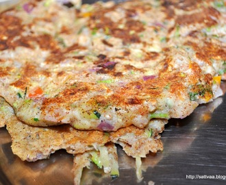 Dasha Ratna uttappa - a super pancake made with multi grain flour and vegetables