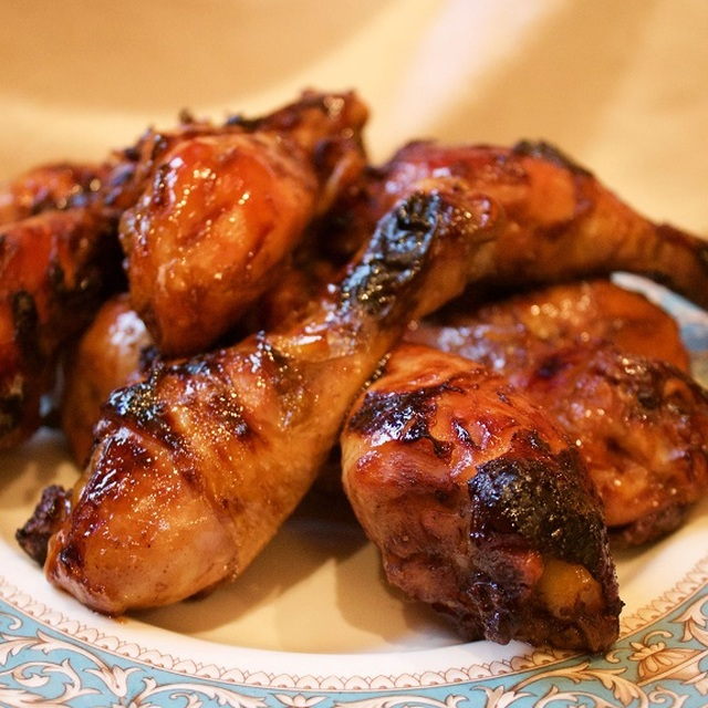 Oven Baked Hot and Sticky Chicken Drumsticks