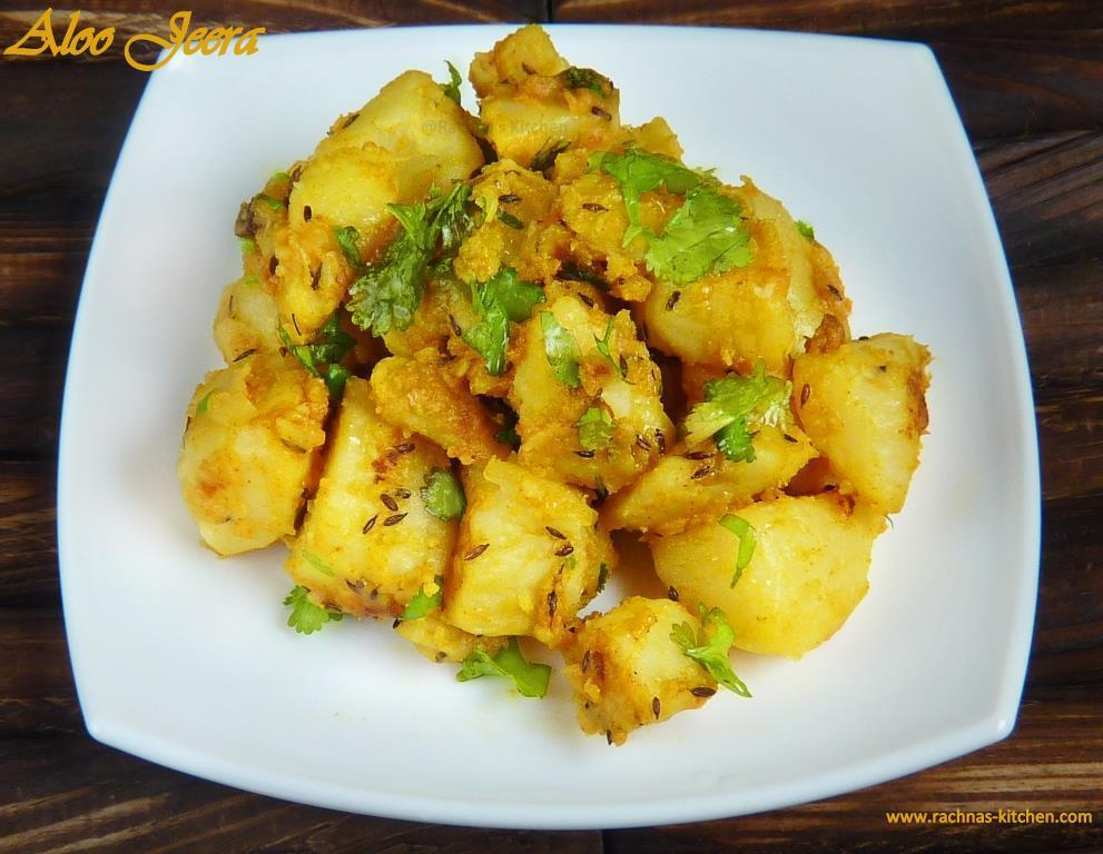 Jeera Aloo Recipe – Stir Fry Boiled Potatoes With Cumin Seeds