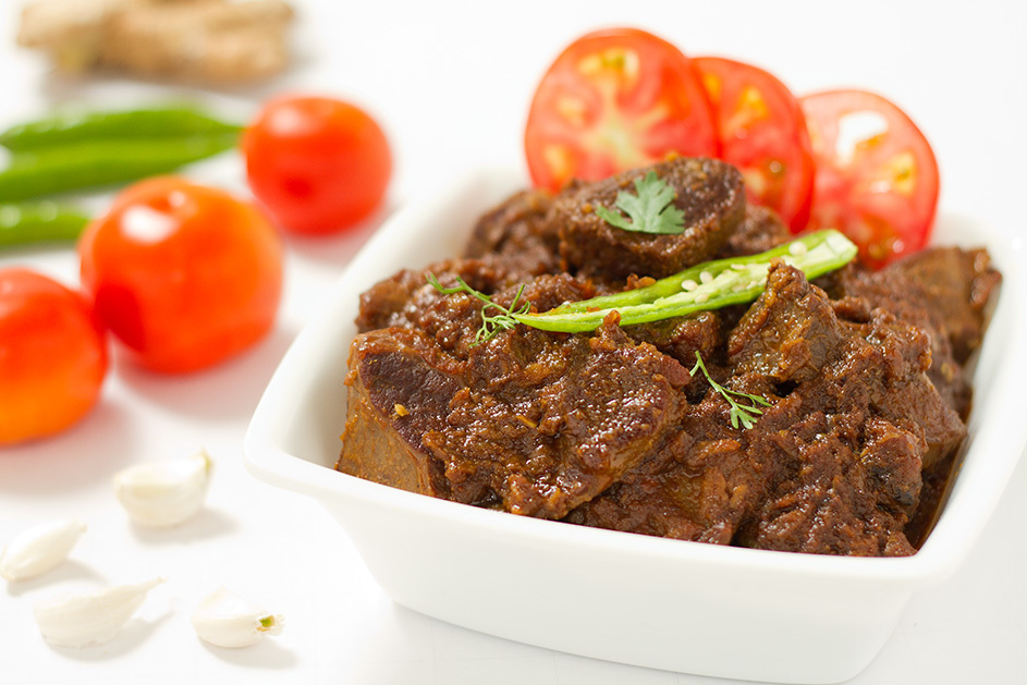 Bhuna Gosht – Pan fried meat in aromatic spices